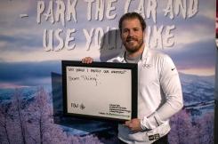 Kjetil Jansrud var innom boothen vår på Ungdoms-OL. Her sier han hvorfor han vi må ta vare på vinteren.