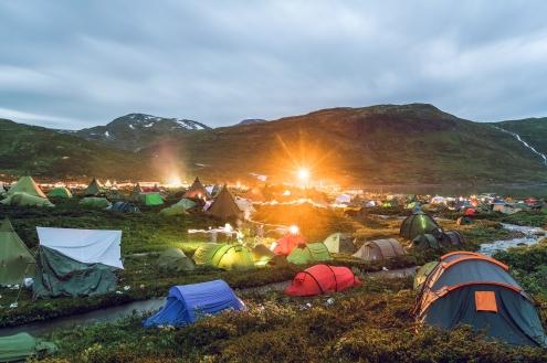 Utsikt fra POW-campen på Vinjerock 2016.